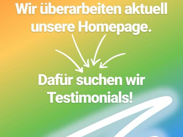Testimonials gesucht!
